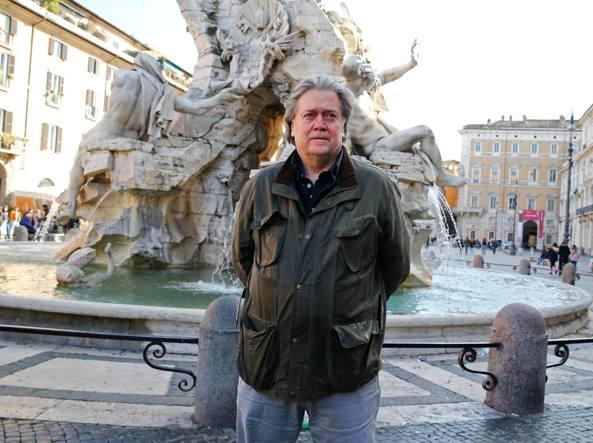 Risultati immagini per Steve Bannon a Roma