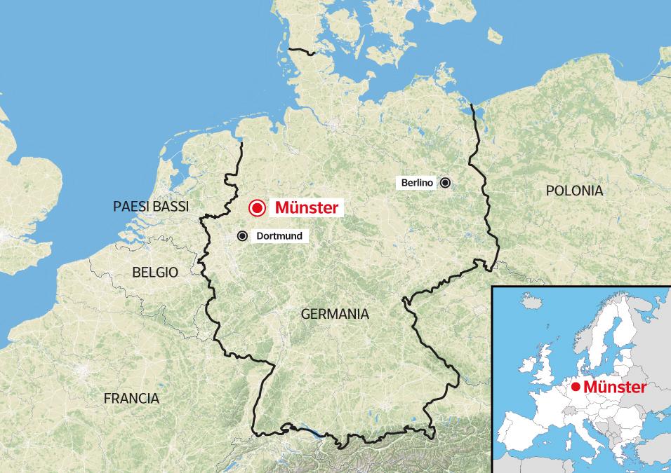 Dortmund Germania Cartina.Munster Furgone Piomba Sulla Folla Corriere It