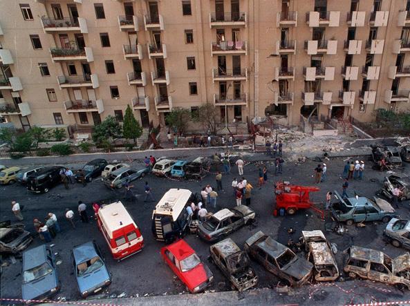 Via D'Amelio, Palermo subito dopo l'attentato al giudice Borsellino