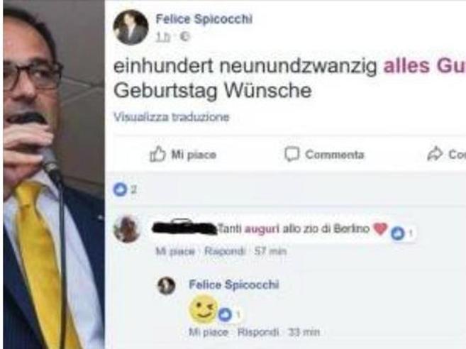 Ascoli, prof  fa gli auguri di compleanno a Hitler su Facebook