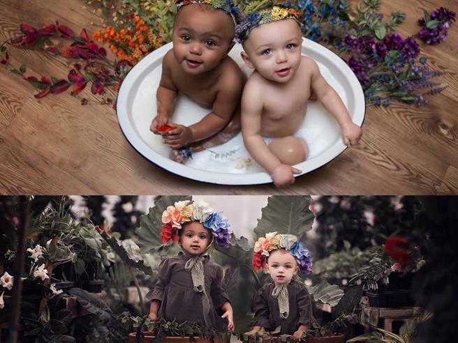 Compiono 2 anni le gemelle bicolori La mamma: «Sono un'ispirazione»