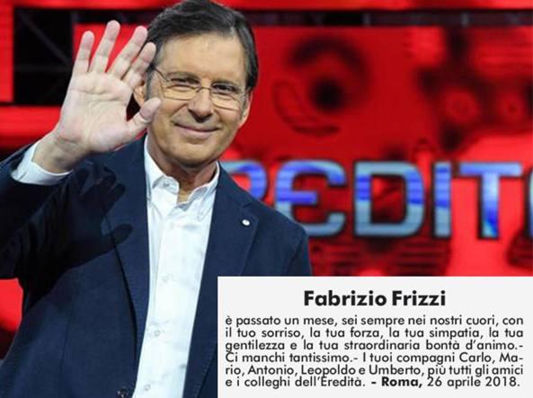 Fabrizio frizzi un mese senza il tuo sorriso il for Necrologio corriere della sera