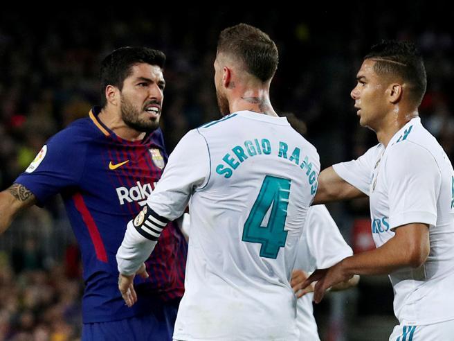 Real-Barcellona: «clasico» ad alta tensione, Ronaldo segna e si infortuna