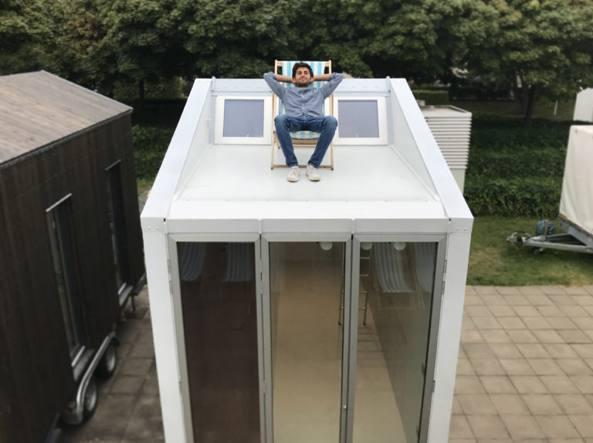 Ecco la mini casa mobile per giovani che non vogliono mettere radici - Minibar per casa ...