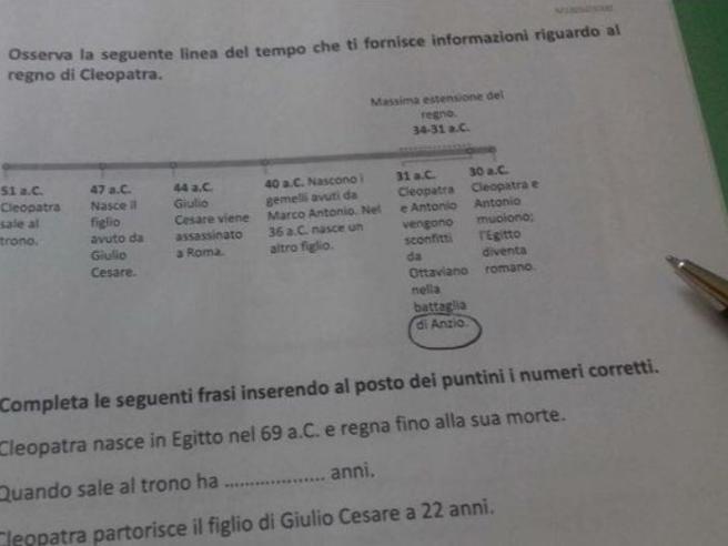 Invalsi, ultima gaffe: Antonio e Cleopatra sconfitti ad Anzio