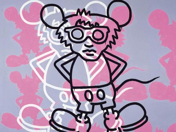 Keith Haring, «Andy Mouse», 1985