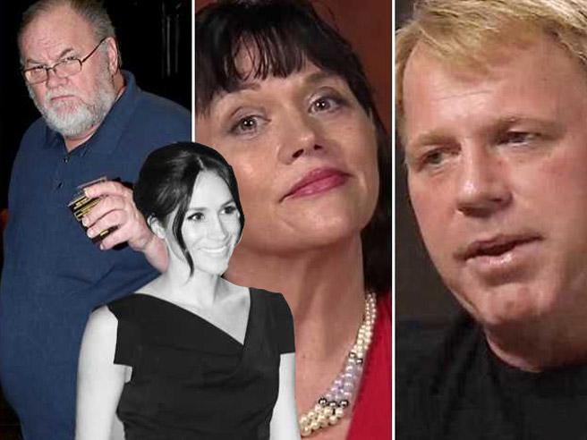 Padre bancarottiere, fratello pistolero e una sorellastra: l'assurda famiglia di Meghan  (che imbarazza i reali)  Le foto