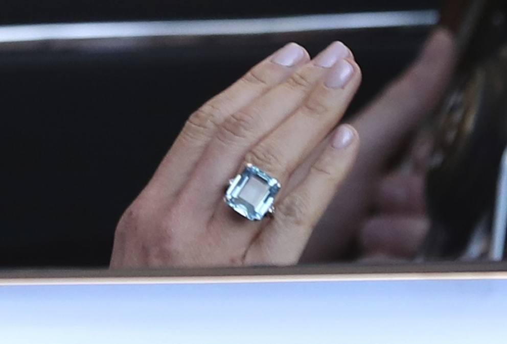 design moderno comprare 100% originale Meghan Markle e l'anello di Diana al ricevimento | Foto ...