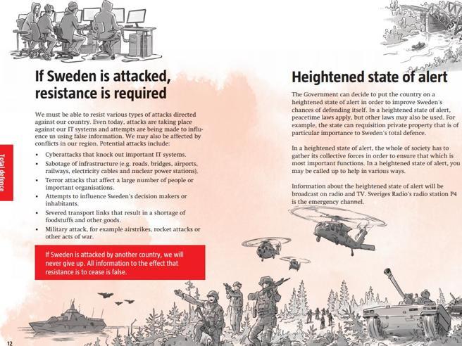Svezia, manuale di 20 pagine per «prepararsi alla guerra»|Guarda