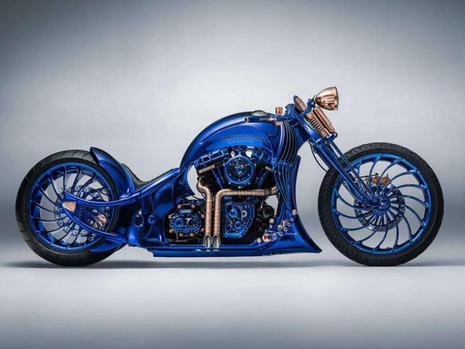 L'Harley più costosa del mondointarsiata con oro e diamanti