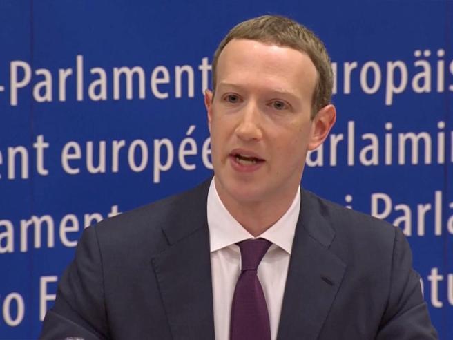 Zuckerberg al Parlamento Ue: «Evitare  interferenze  in tuttele prossime elezioni» Video