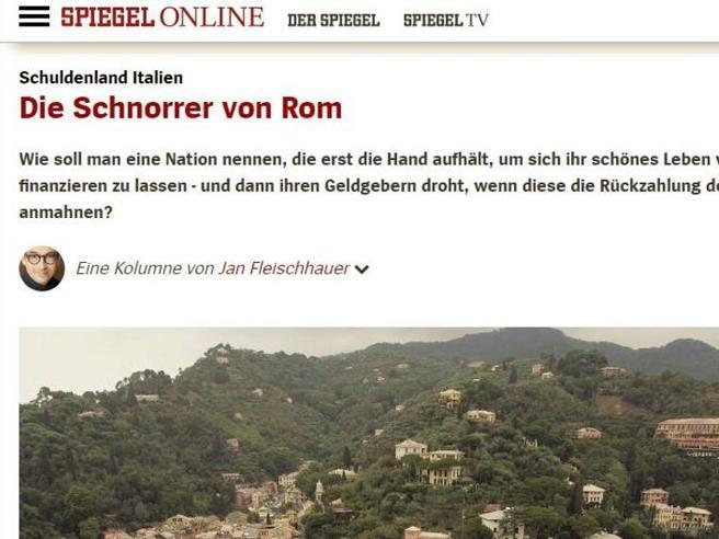 L'attacco dello Spiegel: «Italia scroccona, colpa di Draghi»