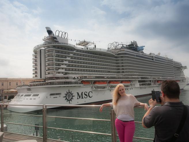 A Genova il varo di Msc Seaview, il nuovo «mostro» dei mari Foto