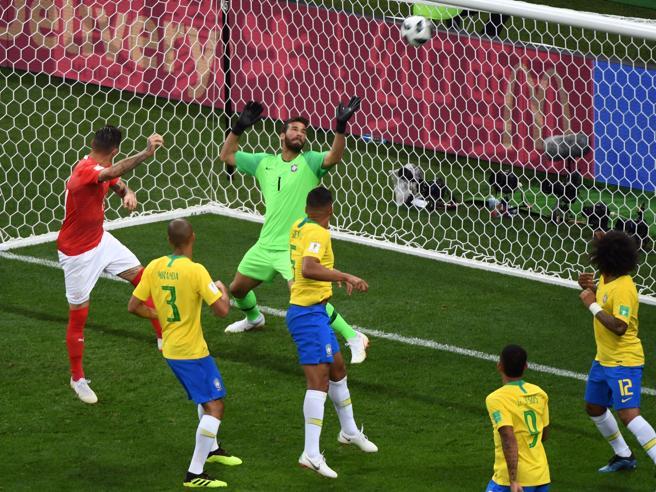Anche il Brasile fa fatica,  la Svizzera impone il pari: 1