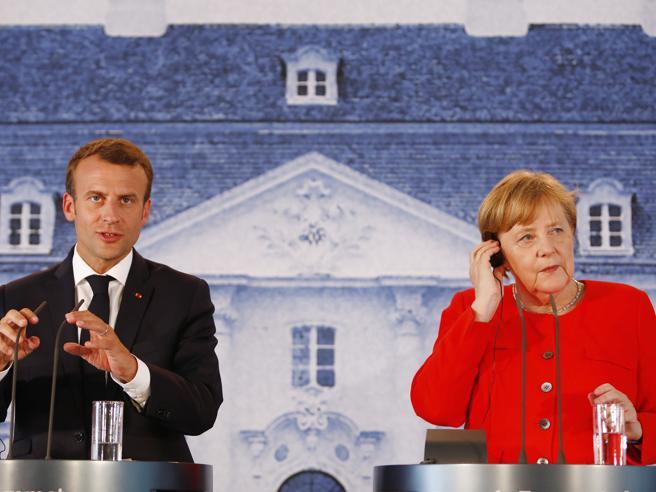 Macron strappa a Merkel il «sì» al bilancio comune dell'eur