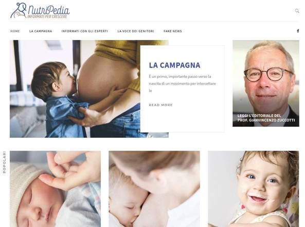 La homepage del sito Nutripedia.it
