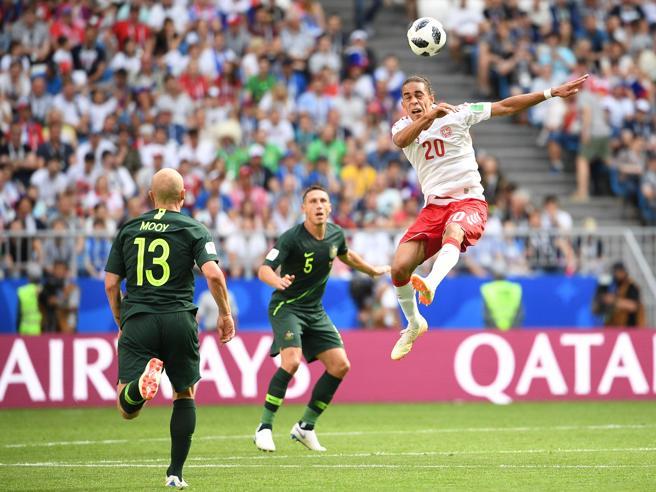 Mondiali 2018, Danimarca-Australia finisce 1-1
