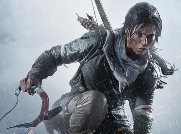 La «nuova» Lara Croft, più giovane e spaventata, come appare in Shadow of the Tomb Raider
