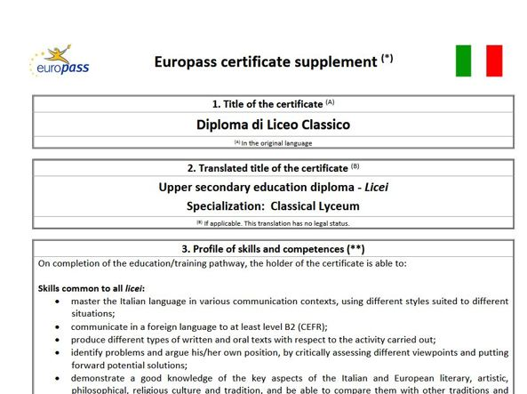 Maturita 2018 Ecco Europass Il Certificato Europeo Insieme Al