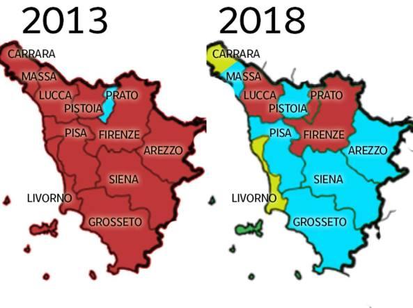 Pd, elezioni comunali: perché la Toscana non è più rossa