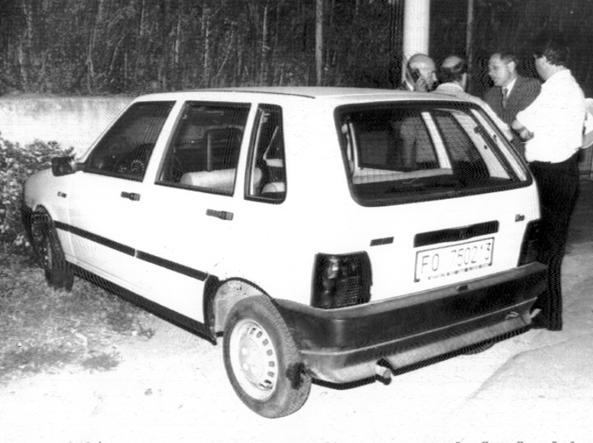 La Uno bianca della banda in una foto del '91