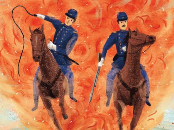 Un'illustrazione di Margherita Travaglia per «Arrivano i fratelli Hood»