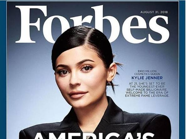 Kylie Jenner sulla copertina di Forbes (Instagram @kyliejenner)
