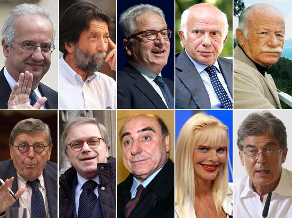 Vitalizi, i tagli per gli ex deputati:  da Ilona Staller a Cacciari