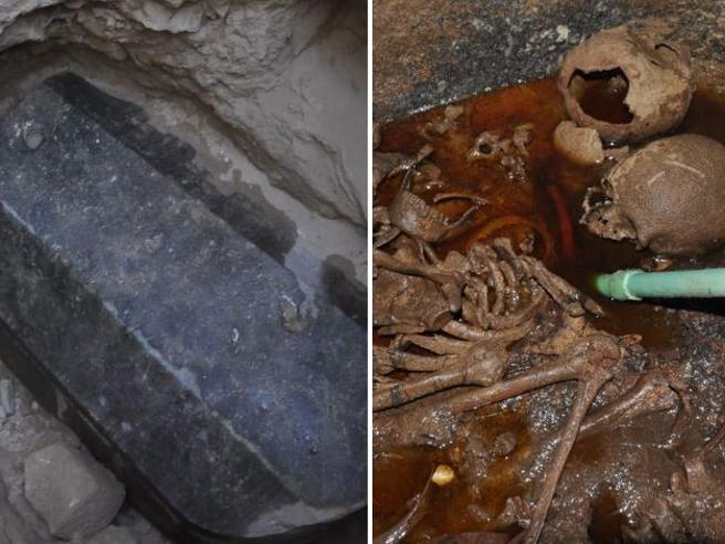 Alessandria d'Egitto, aperto il sarcofago nero dei misteri Foto