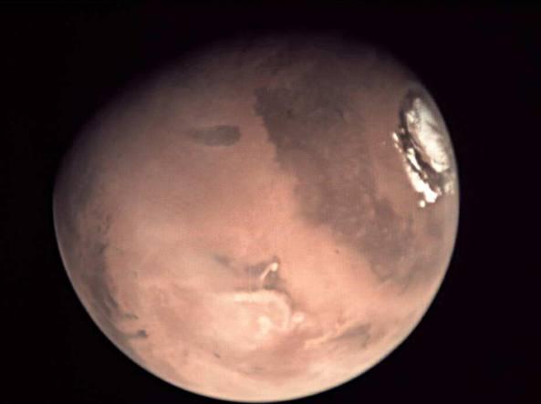 Marte ripreso dalla sonda MarsExpress (Esa)