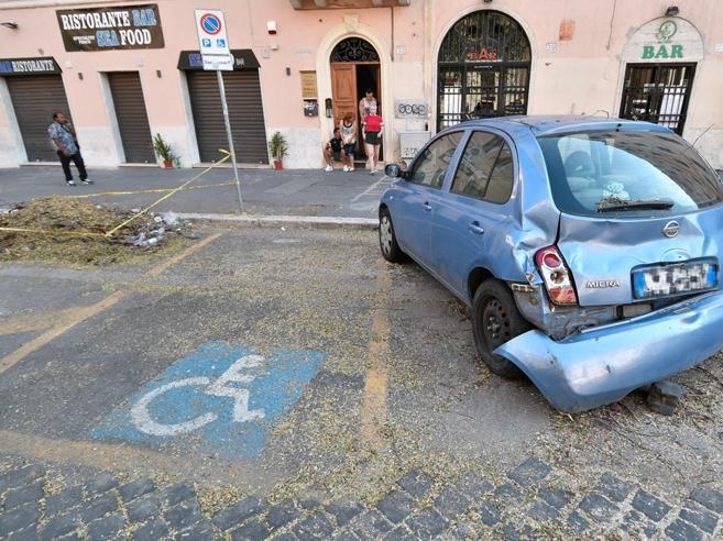 Dopo 15 giorni «liberata» dai rami l'auto della disabile|Foto