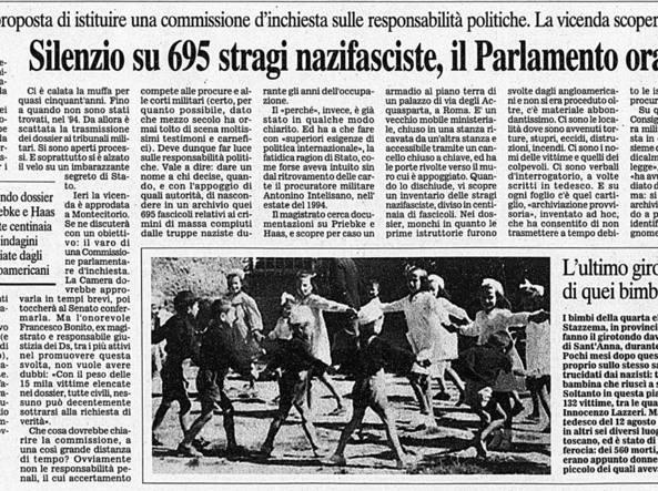 12 Agosto 1944 L Eccidio Di Sant Anna Di Stazzema Nelle Pagine Del Corriere Corriere It