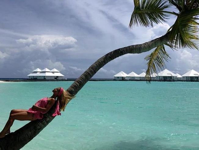 Michelle Hunziker alle Maldive. Foto di una vacanza da sogno