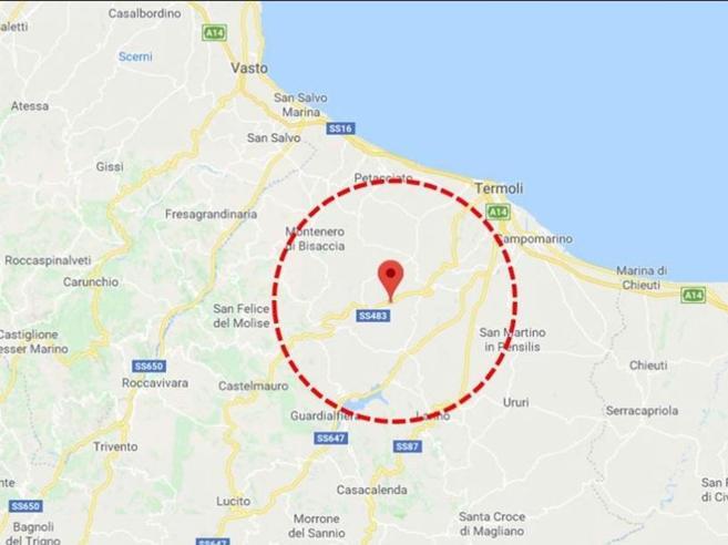Scossa di terremoto in Molise Prima valutazione: magnitudo