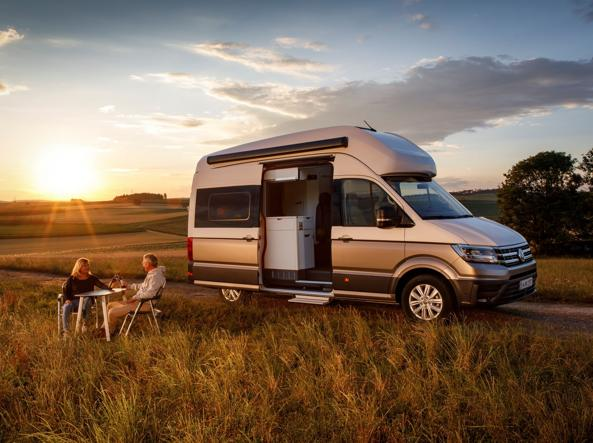 Il nuovo Volkswagen Grand California, su base Crafter