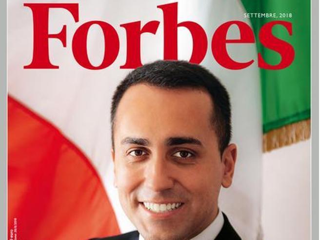 Di Maio su Forbes  ritratto da  Oliviero Toscani, fotografo dei Benetton