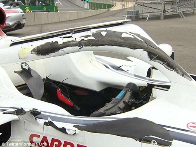 Gp del Belgio: così l'Halo ha salvato Leclerc nell'incidente con Alonso