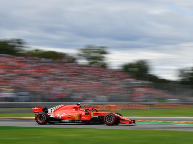 F1 Monza, la Ferrari di Raikkonen in pole, poi  Vettel. Solo  3° Hamilton