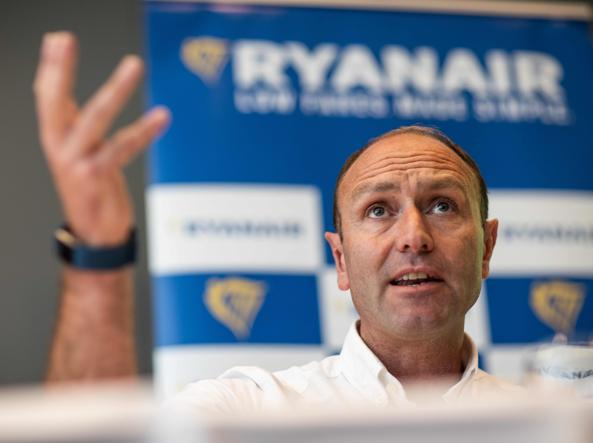 Kenny Jacobs, chief marketing officer di Ryanair (foto Afp)