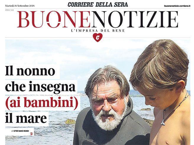 Antonio, il nonno-sub e il mare visto da sotto per i bambini