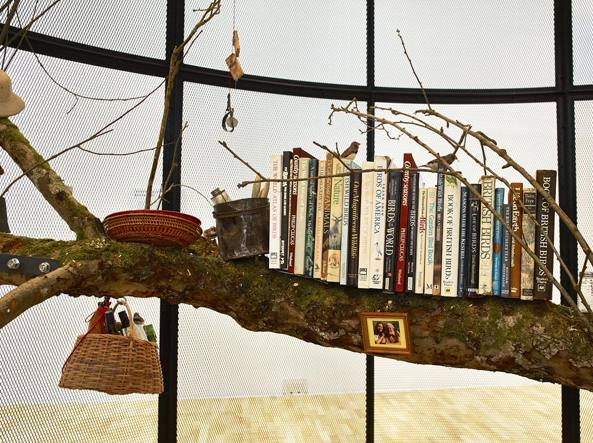 Mark Dion (Bedford, Stati Uniti, 1961), «The library for the birds of London» (2018, installazione mixed media), courtesy dell'artista / Whitechapel Gallery, Londra