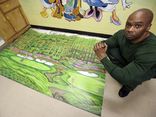 Innocente, dopo 27 anni è stato  scarcerato  grazie ai suoi disegni di campi da golf