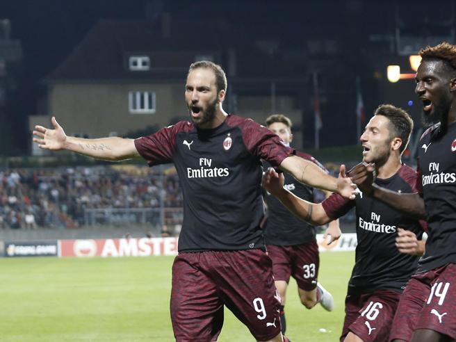 Dudelange-Milan 0-1:  Higuain e tanta fatica, Diavolo ok  in Lussemburgo