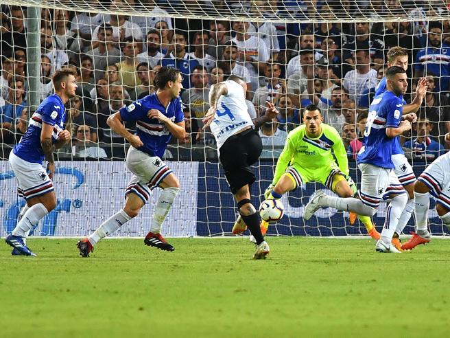 Sampdoria Inter 0 1, torna la Var ed è protagonista: tre gol