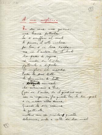 Umberto Saba Poesia A Mia Moglie Corriereit
