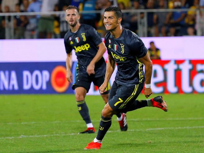 Ronaldo spezza l'assedio, Frosinone Juventus 0 2