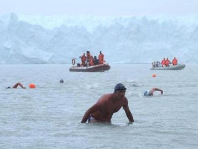 Paolo, il nuotatore tra i ghiacci«Sfido l'Antartide senza la muta»