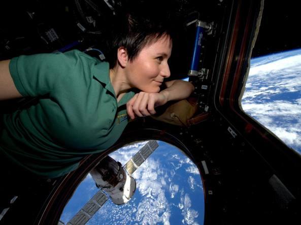 Samantha Cristoforetti sulla Stazione spaziale internazionale (Esa / Nasa)