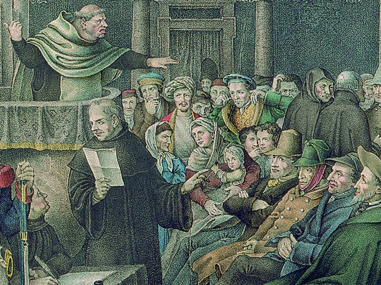 Hieronymous Hess (Basilea, 1799 - 1850), «La predica agli ebrei a Roma» (1823, particolare)