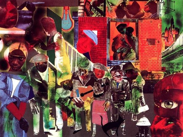 Romare Bearden (1911 –1988), «The Street» (1964, collage), courtesy Romare Bearden Foundation, New York
